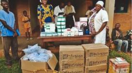Distribuzione dei farmaci a Wamba