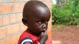Uno dei bambini sostenuti da S.O.S.